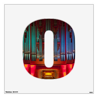 O is for colourful pipe organ decal wall graphic