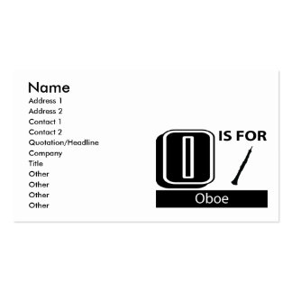 O Is For Oboe Double-Sided Standard Business Cards (Pack Of 100)