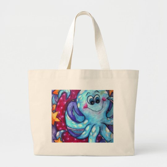 O is for Octopus Large Tote Bag