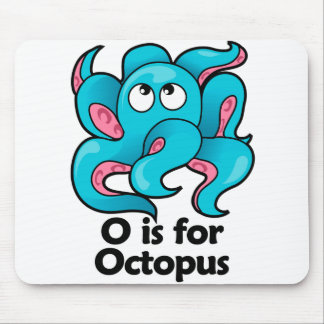 O is for Octopus Mouse Pad