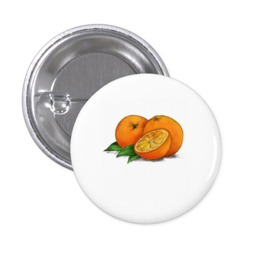 O is for Oranges Pinback Button