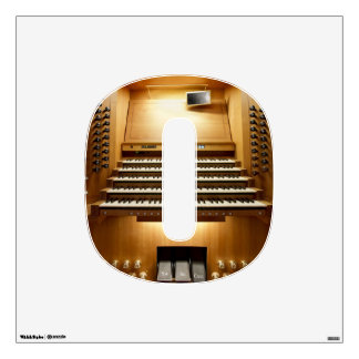 O is for organ console wall decal