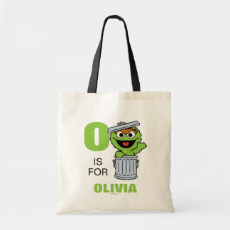 O is for Oscar the Grouch | Add Your Name Tote Bag