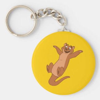 O is for Otter Basic Round Button Keychain