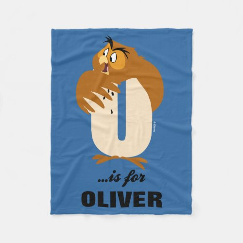 O is for Owl | Add Your Name Fleece Blanket