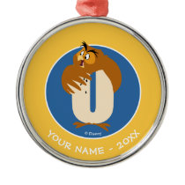 O is for Owl | Add Your Name Metal Ornament