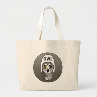 O is for Owl Large Tote Bag