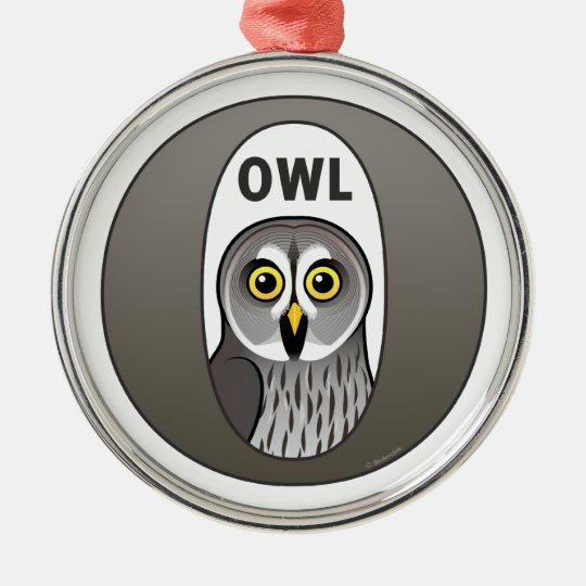 O is for Owl Metal Ornament