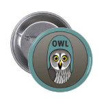 O is for Owl Pin
