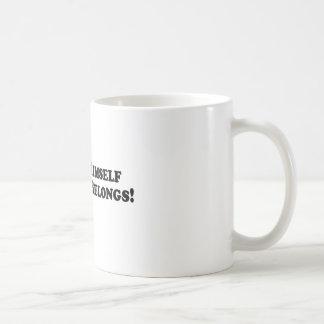 O J Put Himself Where He Belongs - Basic Coffee Mug