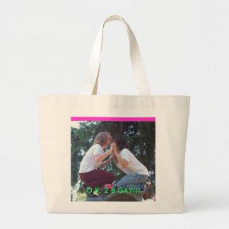 O.K. 2 B GAY,Gay,Slade and the big nothing,Bright Large Tote Bag