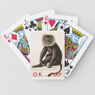 O.K. … JUEGO - naipes del mono Baraja