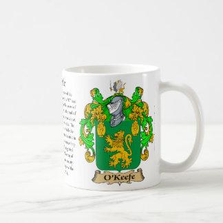 O'Keefe Family Coat of Arms Coffee Mug