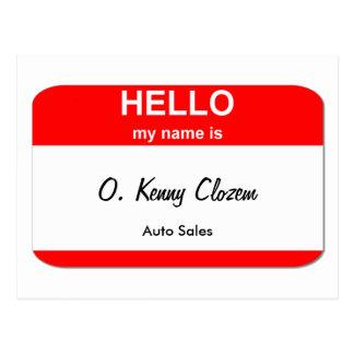 O. Kenny Clozem Postcard