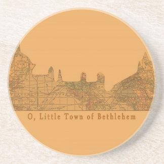 O Little Town of Bethlehem Christmas Coaster