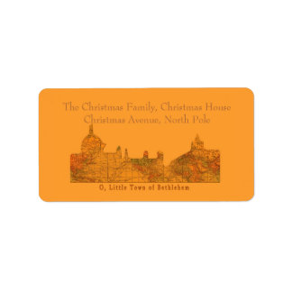 O Little Town of Bethlehem Christmas Label