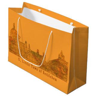 O Little Town of Bethlehem Christmas Large Gift Bag
