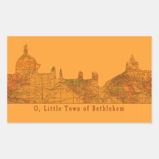 O Little Town of Bethlehem Christmas Rectangular Stickers