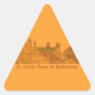O Little Town of Bethlehem Christmas Triangle Sticker