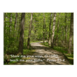 O Lord, Teach me your paths. Psalm 25 Print