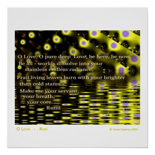 O Love - Rumi print