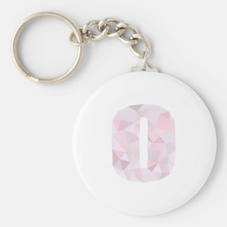 O - Low Poly Triangles - Neutral Pink Purple Gray Keychain