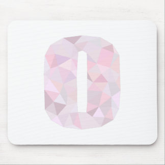 O - Low Poly Triangles - Neutral Pink Purple Gray Mouse Pad