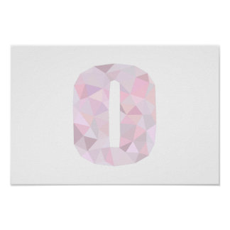 O - Low Poly Triangles - Neutral Pink Purple Gray Poster