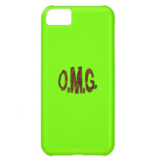 O.M.G. Fluoro Lime-Green iPhone Case Cover For iPhone 5C