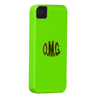 O.M.G. Fluoro Lime-Green iPhone Case iPhone 4 Case