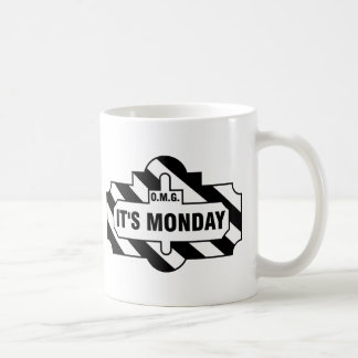 O.M.G. It's Monday - black Coffee Mug