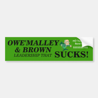 O MALLEY Bumper Sticker