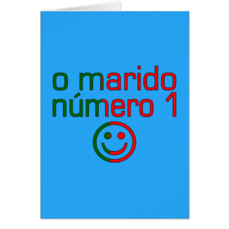 O Marido Número 1 - Number 1 Husband in Portuguese Stationery Note Card