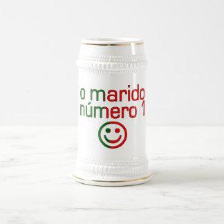 O Marido Número 1 - Number 1 Husband in Portuguese 18 Oz Beer Stein