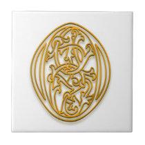 "O Monogram ""Irish Gold"" Ceramic Tile"