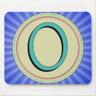 O MONOGRAM LETTER MOUSE PAD