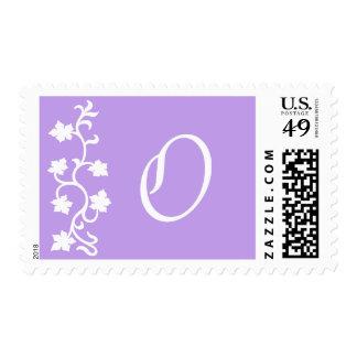 O Monogram (Purple Vine) Postage