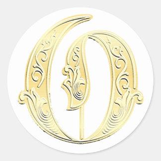 O Monogram sticker