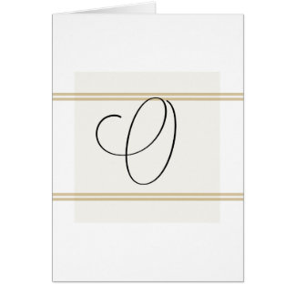 O Monogramed Greeting card