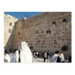 O Muro das Lamentações em Jerusalém, Cidade Santa Cartão Postal
