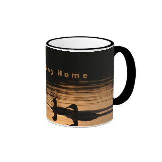 O n   t h e   W a y   H o... Ringer Mug