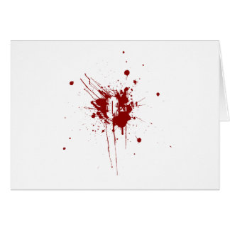 O Negative Blood Type Donation Vampire Zombie Greeting Card