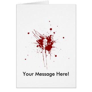 O Negative Blood Type Donation Vampire Zombie Card