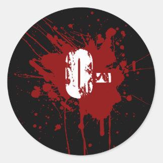 O Negative Blood Type Donation Vampire Zombie Classic Round Sticker