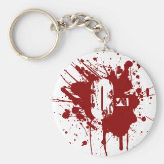 O Negative Blood Type Donation Vampire Zombie Keychain