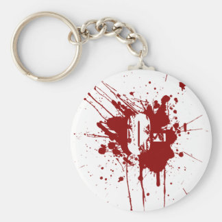 O Negative Blood Type Donation Vampire Zombie Keychain