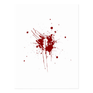 O Negative Blood Type Donation Vampire Zombie Postcard