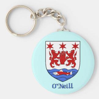 O' Neill Family Shield Keychain