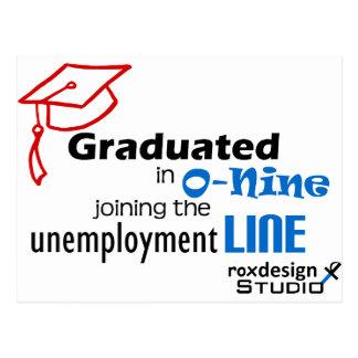 O-nine unemployment line postcard