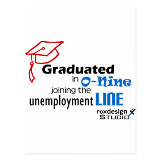 O-nine unemployment line postcard